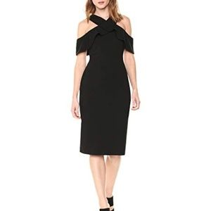 RACHEL ROY Black CREPE SCUBA SHEATH Dress Size 6